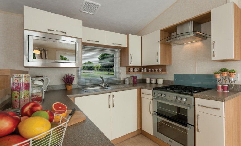 Example of Caravan Interior - Kitchen
