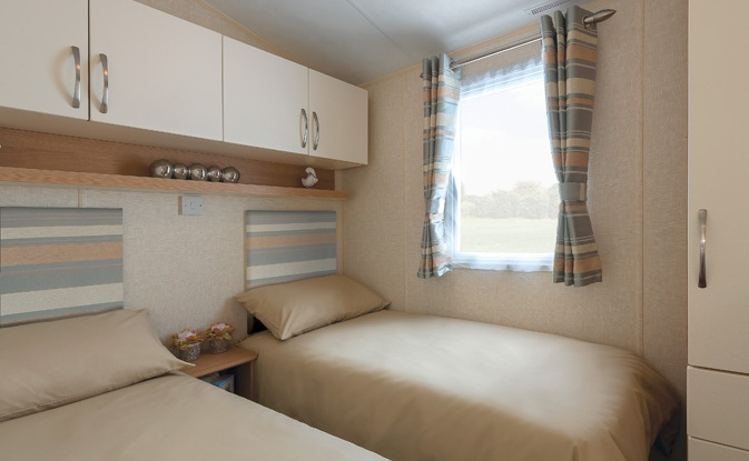 Example of Caravan Interior - Twin Bedroom