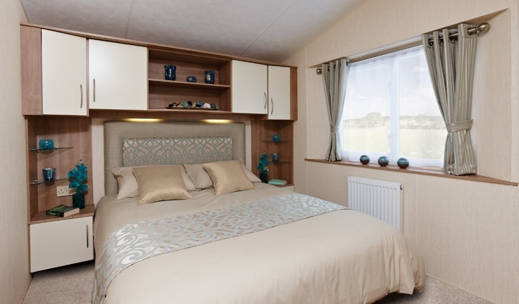 Example of Caravan Interior - Main Bedroom