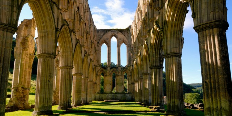 Rievaulx Abbey as seen on BBC1's Secret Britain
